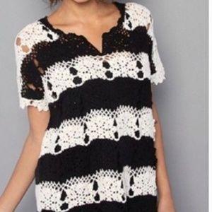 FREE PEOPLE silk/linen blend knit Sweater MEDIUM